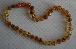 Baltic Amber Rounded Baby Teething Necklace SUGAR AND SPICE