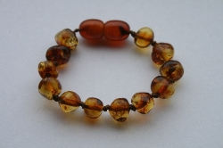 Child Size or Adult Size... Baltic Amber Anklet/Bracelet COGNAC