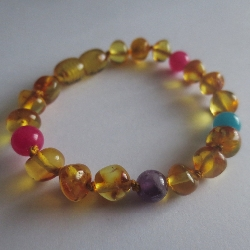CANDY AMBER...Child Size or Adult Size... Baltic Amber Anklet/Bracelet
