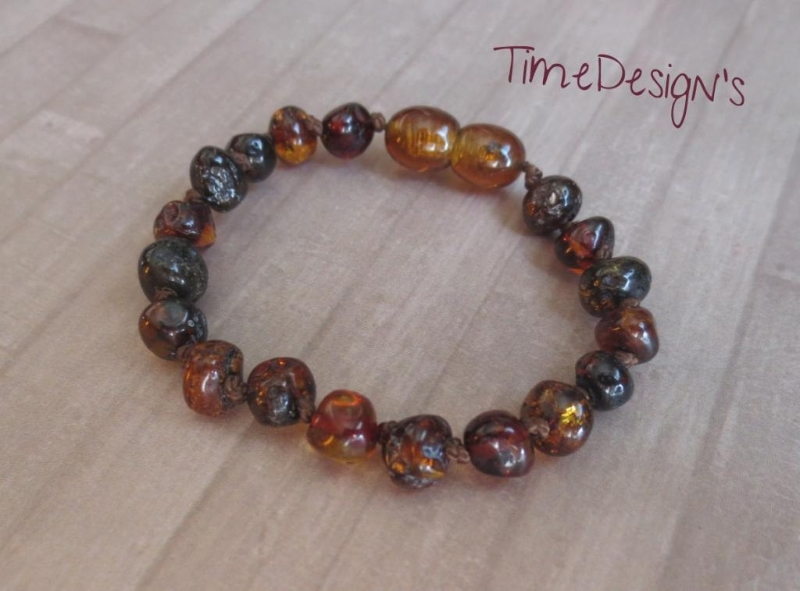 Child Size or Adult Size... Baltic Amber Anklet/Bracelet DARK CHERRY