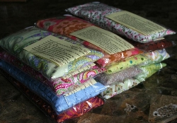 Organic Flax Seed Herbal Eye Pillows...with Healing Organic Herbal Additions and Removeable Case