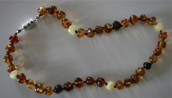 Baltic Amber Rounded Baby Teething Necklace OLD FASHIONED TAFFY