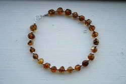 Authentic Baltic Amber and Sterling Silver Bracelet//Anklet
