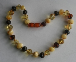 Baltic Amber Rounded Baby Teething Necklace GRANGER
