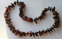Baltic Amber Teething Necklace Nugget Style DARK CHERRY