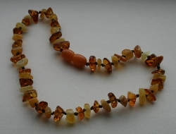 Baltic Amber Teething Necklace Nugget Style SALT AND MALT