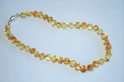Baltic Amber Rounded Baby Teething Necklace CHAMPAGNE