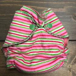 Pink Stripe /w bubblegum organic bamboo velour - newborn