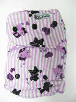 Purple Hello Kitty Stripes /w lilac organic bamboo velour - T&T multi-size