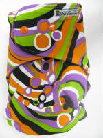 Swirl /w purple cotton velour - T&T multi-size