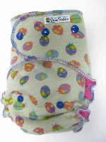 Ladybugs /w fushcia cotton velour - serged multi-size