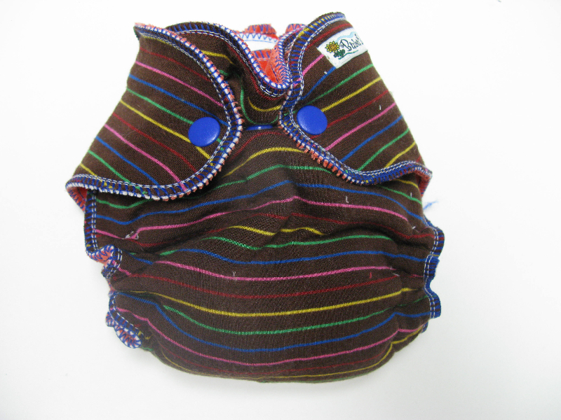 Chocolate Rainbow /w red organic bamboo velour - newborn