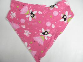 SALE! Pink Fairy knit - Bandana Bib
