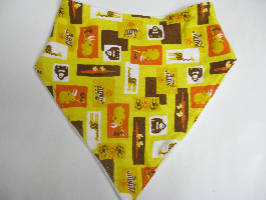 SALE! Yellow Zoo knit - Bandana Bib