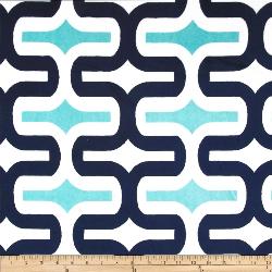 """3yd x 60"""" Navy Wavy - MINKY fabric"""