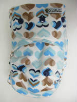 Blue Hearts /w seafoam cotton velour - T&T multi-size