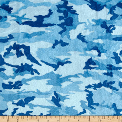 "18x18"" Blue Camo - MINKY fabric"