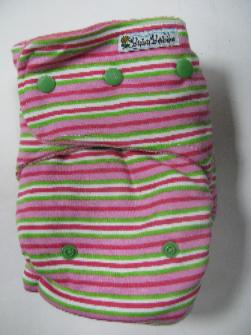 Candy Stripe /w bubblegum organic bamboo velour - T&T multi-size