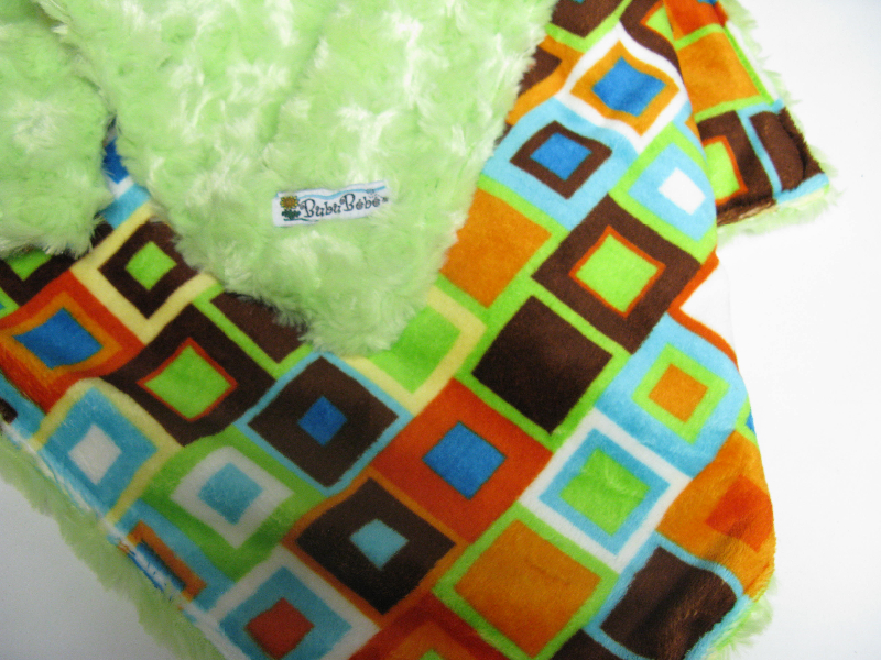 Lime /w block party minky - 'Lankie - Regular $20