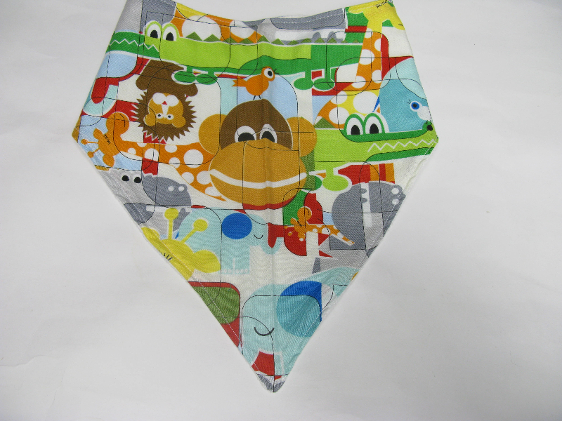 SALE! Animal Blocks - Bandana Bib