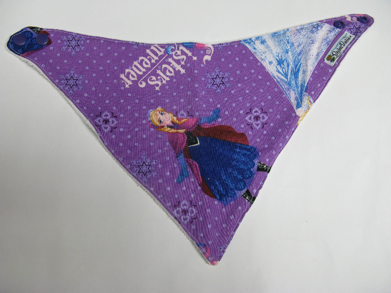 SALE! Purple Frozen - Bandana Dribble Bib