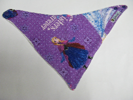 SALE! Purple Frozen - Bandana Dribble Bib