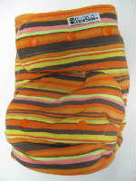 Fall Stripe /w orange cotton velour - T&T multi-size