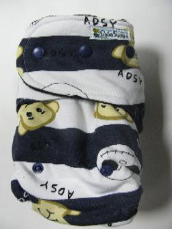 Nightmare Stripe /w black cotton velour - T&T multi-size