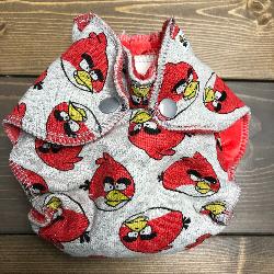 Angry Birds /w red organic bamboo velour - newborn