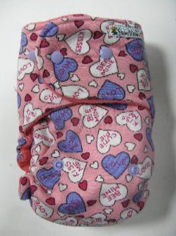 Candy Hearts /w bubblegum cotton velour - T&T multi-size