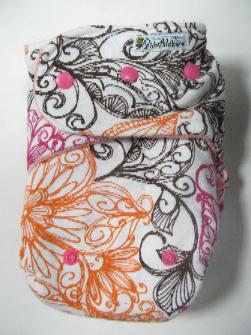 Swirl /w peach cotton velour - T&T multi-size