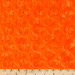 7yd Orange Swirl - MINKY fabric