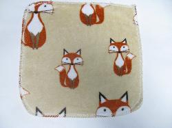Beige Foxes Minky/Sherpa Wipe