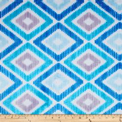 """3yd x 60"""" Blue Diamonds - MINKY fabric"""