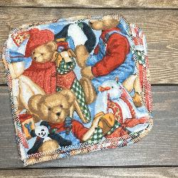 Blue Jean Teddy Bear/Sherpa Wipe