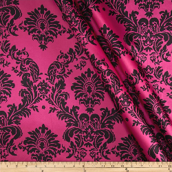 2.8yd piece of Pink Damask - SATIN fabric