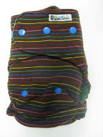 Chocolate Rainbow /w green cotton velour - T&T multi-size