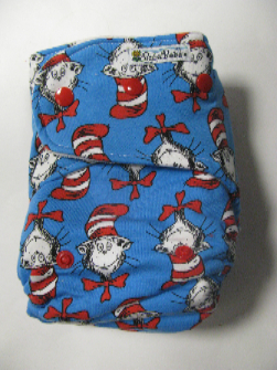 Cat in the Hat w organic bamboo velour - T&T multi-size