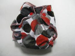 Charcoal dot Minky /w grey cotton velour - newborn