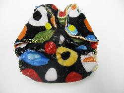 Black Wonky Dot Minky /w red cotton velour - newborn
