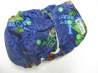 Toy Story /w chocolate organic bamboo velour - Designer Woven Hidden PUL Ai2