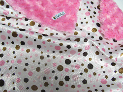 Fuchsia /w pink dot satin - 'Lankie - Regular $20