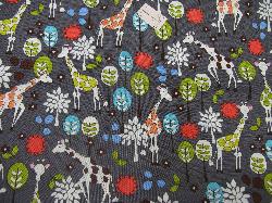 Michael Miller Giraffe Garden Grey - WOVEN fabric