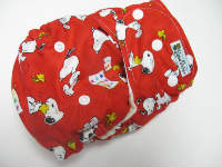 Red Snoopy /w red cotton velour - Designer Woven Hidden PUL Ai2