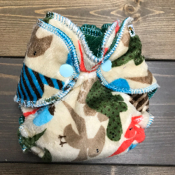 Desert Dino Minky /w green cotton velour - newborn