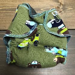Bears /w charcoal cotton velour - newborn