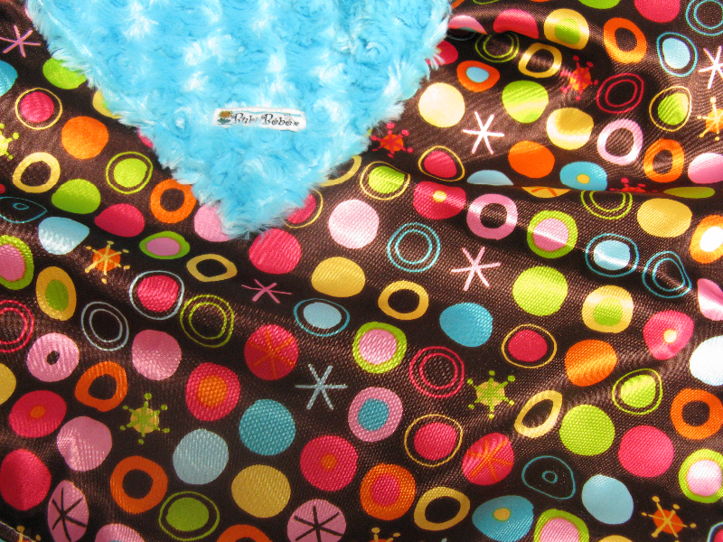 Turquoise /w chocolate circle ole satin - 'Lankie - Regular $20