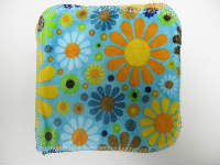 Turquoise Flower Child Minky/Velour Wipe