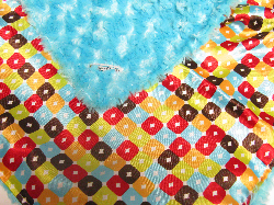 Turquoise /w yellow circle ole satin - 'Lankie - Regular $20