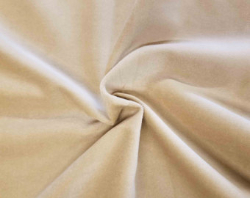 "3.9yd x 60"" Beige/Sand - Cotton VELOUR fabric"